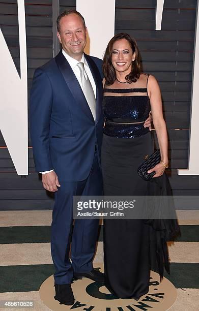 Attorney Douglas Emhoff And California General La Harris Arrive At The 2017 Vanity Fair Oscar