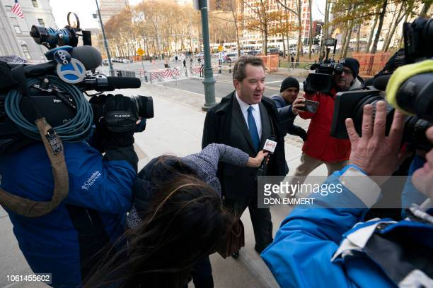 Attorney for Joaquin El Chapo Guzman Jeffrey Lichtman arrives at the Brooklyn Federal Courthouse as the trial of Joaquin El Chapo Guzman takes place...