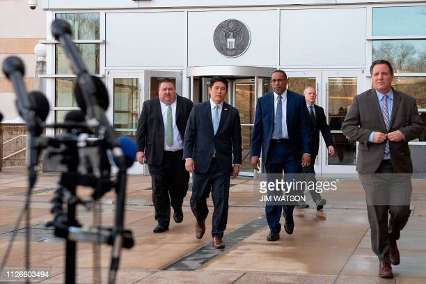 US Attorney for Maryland Robert Hur FBI Special Agent In Charge of the Baltimore Field Office Gordon Johnson and US Coast Guard Investigator Art...