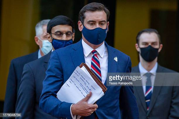Attorney for the Eastern District of Virginia G. Zachary Terwilliger arrives for a news conference on the case against two British ISIS militants...