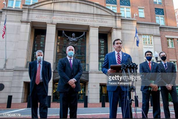 Attorney for the Eastern District of Virginia G. Zachary Terwilliger speaks to the media about the case against two British ISIS militants dubbed...