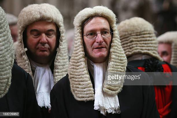 Attorney General Dominic Grieve stands in Westminster Abbey before the judges' Annual Service of Thanksgiving on October 1 2012 in London England The...