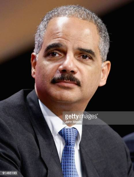 S Attorney General Eric Holder attends a conference of the International Association of Chiefs of Police on October 5 2009 in Denver Colorado Holder...