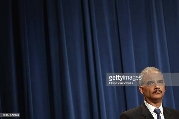S Attorney General Eric Holder holds a Medicare fraud news conference at which he said he recused himself last year from a national security leak...