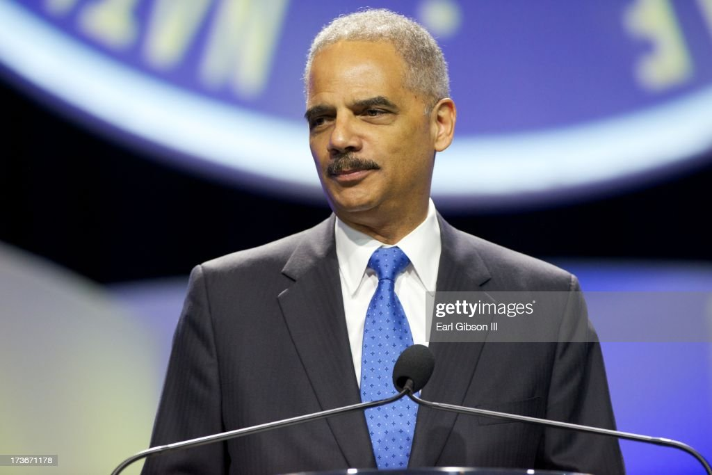 U.S. Attorney General Eric Holder speaks at the 'We Shall Not Be Moved' Symposium during the 104th NAACP Convention at Orange County Convention Center on July 16, 2013 in Orlando, Florida.
