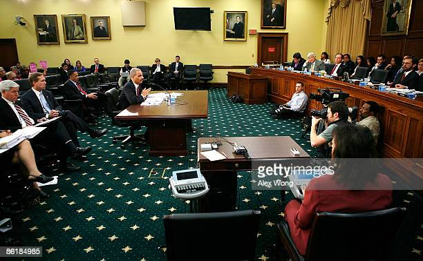 S Attorney General Eric Holder testifies during a hearing before the Commerce Justice Science and Related Agencies Subcommittee of the House...