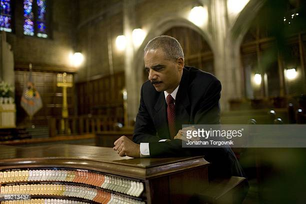 Attorney General Eric Holder visits West Point Military Academy on April 15 2009 in West Point New York