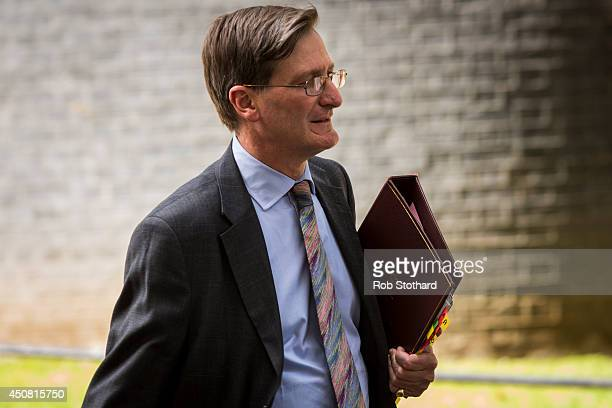 Attorney General for England and Wales Dominic Grieve leaves 10 Downing Street following a National Security Council meeting to discuss the crisis in...