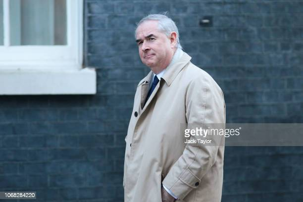 Attorney General Geoffrey Cox arrives at 10 Downing Street as Ministers attend a weekly cabinet meeting ahead of a meaningful vote debate on the...