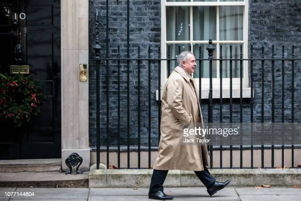 Attorney General Geoffrey Cox leaves 10 Downing Street after Government Ministers attended a weekly cabinet meeting ahead of a meaningful vote debate...