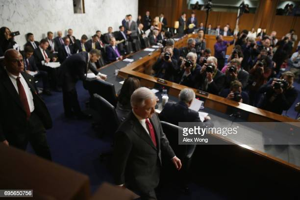 S Attorney General Jeff Sessions arrives to testify before the Senate Intelligence Committee on June 13 2017 in Washington DC The nation's chief law...
