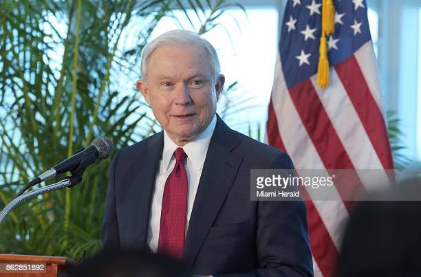 Attorney General Jeff Sessions at Port of Miami Terminal E on Aug 16 2017