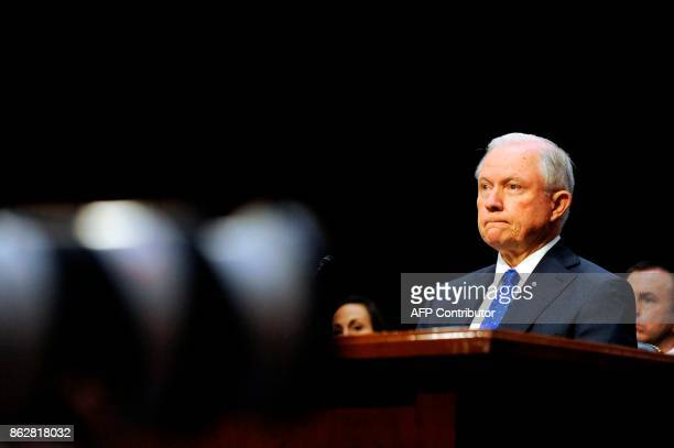 Attorney General Jeff Sessions listens to questions during a Senate Judiciary Committee hearing on 'Oversight of the US Department of Justice' on...