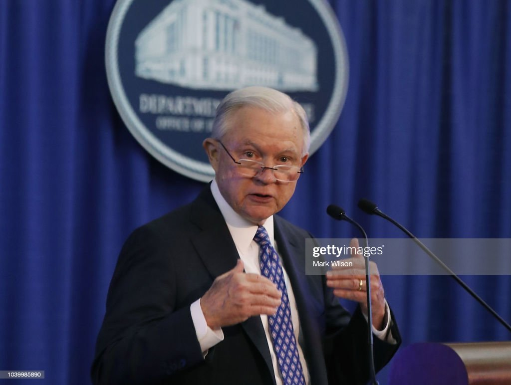 Attorney General Jeff Sessions Speaks At The Office Of Justice Programs' National Institute Of Justice Opioid Research Summit