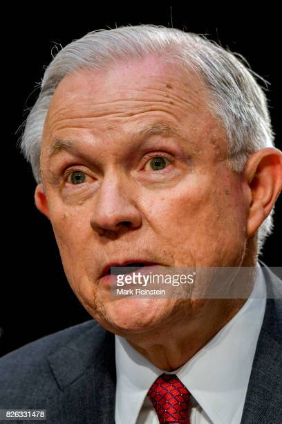 US Attorney General Jeff Sessions testifies before the Senate Intelligence Committee Washington DC June 13 2017