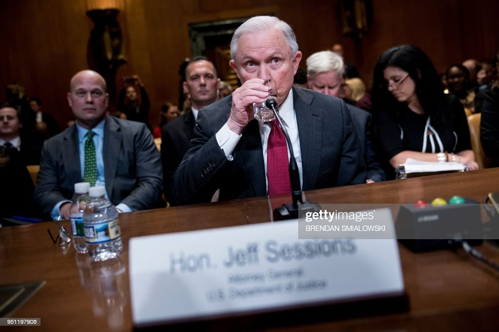 Attorney General Jeff Sessions Testifies To Senate Committee On Department's Budget