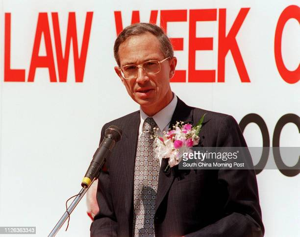 Attorney General Jeremy Mathews at the opening of the Law Week 14 October 1993