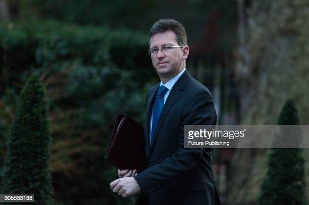 Attorney General Jeremy Wright arrives for a weekly cabinet meeting at 10 Downing Street in central London January 16 2018 in London England