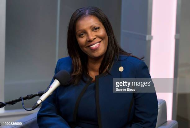 Attorney General Letitia James interviews with L. Joy Williams on SiriusXM Urban View's Sunday Civics at SiriusXM Studios on February 12, 2020 in New...