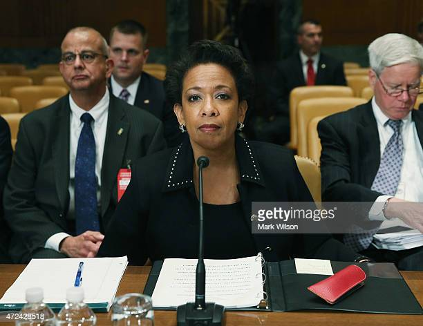 S Attorney General Loretta Lynch appears before the Senate Appropriations Committee on Capitol Hill May 7 2015 in Washington DC The committee is...