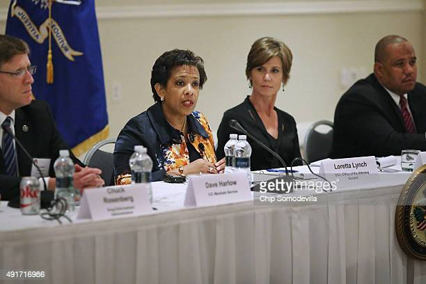 S Attorney General Loretta Lynch delivers closing remarks to the Justice Department Summit on Violence Crime Reduction with Deputy Attorney General...