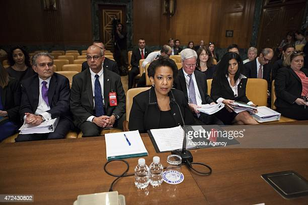 S Attorney General Loretta Lynch testifies during a Senate Appropriations Subcommittee on Justice hearing on the Department of Justice's budget...