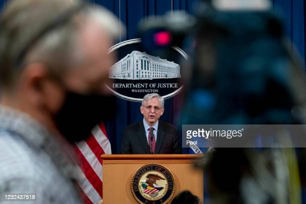 Attorney General Merrick Garland speaks about a jury's verdict in the case against former Minneapolis Police Officer Derek Chauvin in the death of...