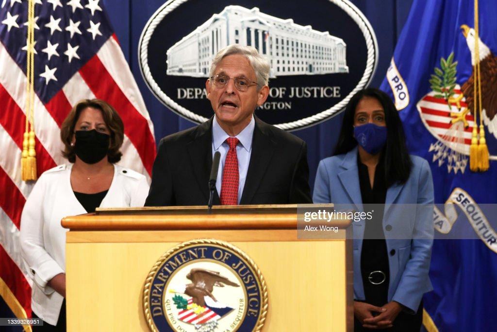 Attorney General Merrick Garland Announces Civil Enforcement Action : News Photo