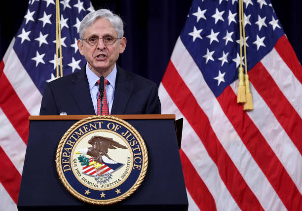 DC: Attorney General Garland Gives Policy Address On Domestic Terrorism