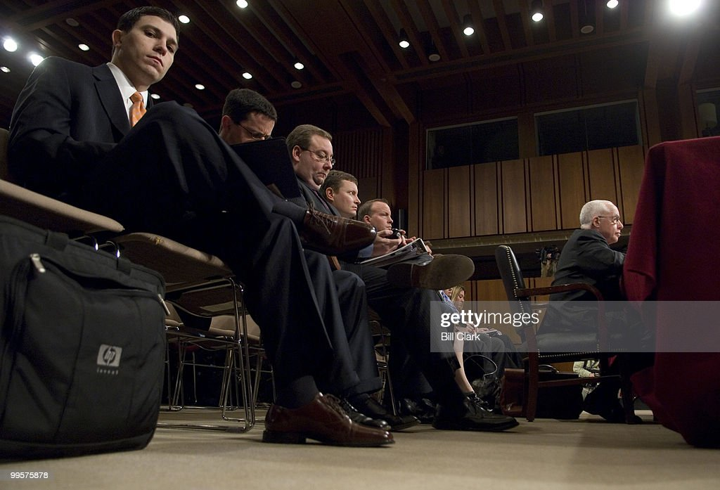 Attorney General Michael Mukasey testifies during the Senate Judiciary Committee hearing on 'Oversight of the U.S. Department of Justice' on Wednesday, Jan. 30, 2008.
