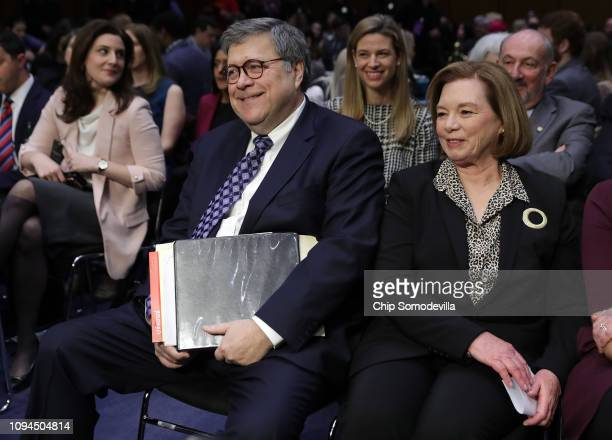 S Attorney General nominee William Barr arrives for his confirmation hearing with his wife Chris before the Senate Judiciary Committee January 15...