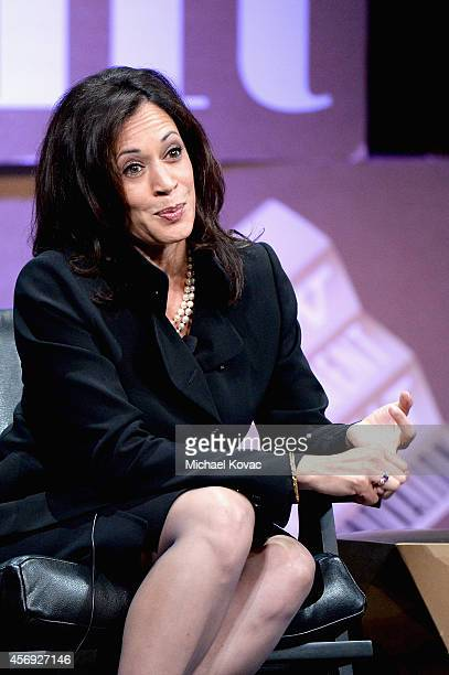 "Attorney General of California Kamala D. Harris speaks onstage during ""Disrupting Politics"" at the Vanity Fair New Establishment Summit at Yerba..."
