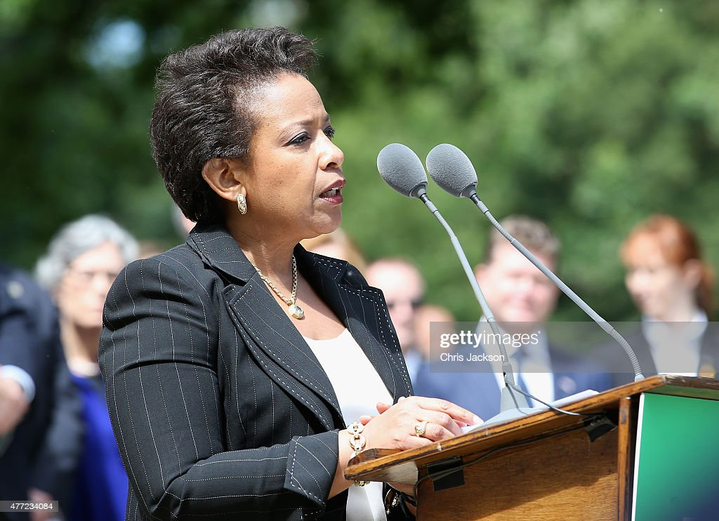 Attorney General of the United States Loretta Lynch talks at a Magna Carta 800th Anniversary Commemoration Event on June 15, 2015 in Runnymede, United Kingdom. Members of the Royal Family are visiting Runnymede to attend an event commemorating the 800th anniversary of Magna Carta. Magna Carta is widely recognised as one of the most significant documents in history. Its influence, as a cornerstone of fundamental liberties, is felt around the world in the constitutions and political traditions of countless nations.