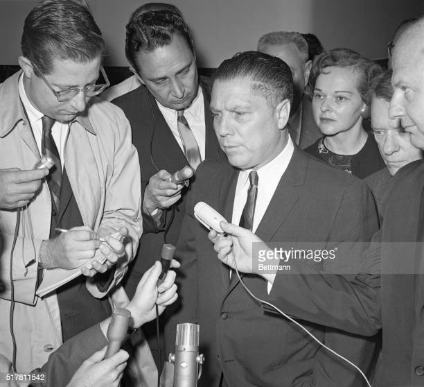 Attorney General Robert Kennedy and Teamsters Union President James R. Hoffa both appeared on the same floor of the Federal Building here 2/13 but 15...