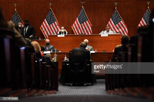 Attorney General William Barr appears before the House Oversight Committee on July 28, 2020 on Capitol Hill in Washington D.C. In his first...