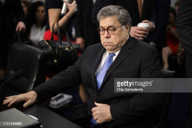 S Attorney General William Barr arrives to testify about the Justice Department's FY2020 budget request before the House Appropriations Committee's...