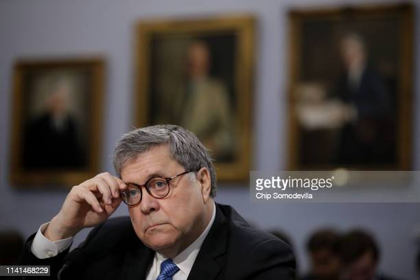 S Attorney General William Barr testifies about the Justice Department's FY2020 budget request before the House Appropriations Committee's Commerce...