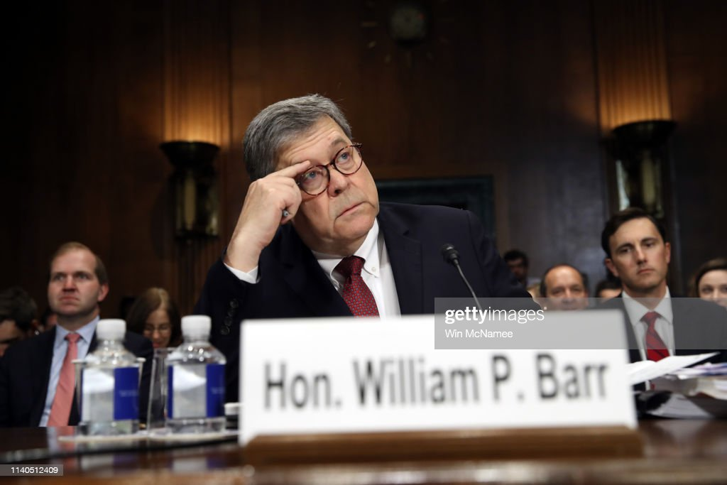 Attorney General Barr Testifies At Senate Hearing On Russian Interference In 2016 Election : News Photo