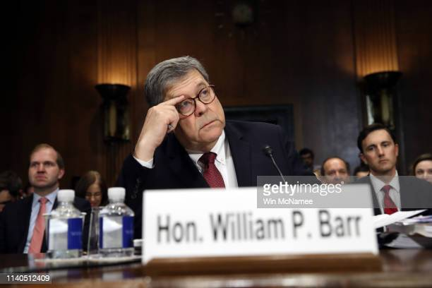 S Attorney General William Barr testifies before the Senate Judiciary Committee May 1 2019 in Washington DC Barr testified on the Justice...