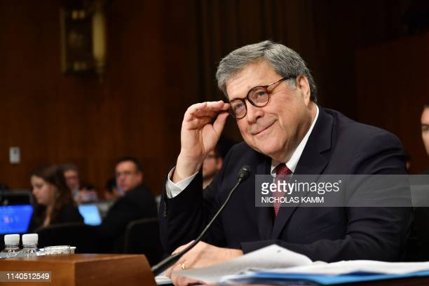 US Attorney General William Barr testifies before the Senate Judiciary Committee on The Justice Department's Investigation of Russian Interference...