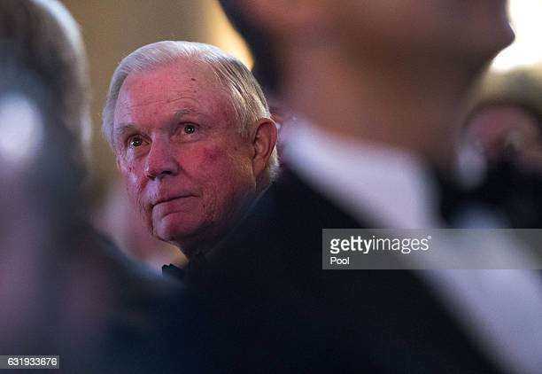 Attorney Generaldesignate Jeff Session attends the Chairman's Global Dinner with Presidentelect Donald Trump and Vice Presidentelect Gov Mike Pence...