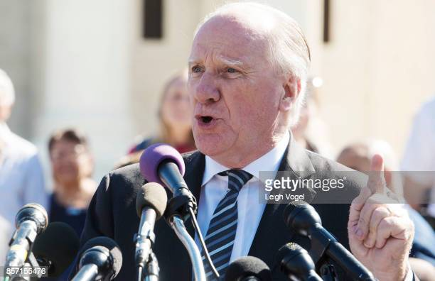 Attorney Gerry Herbert speaks during a rally to call for 'An End to Partisan Gerrymandering' at the Supreme Court of the United States on October 3...