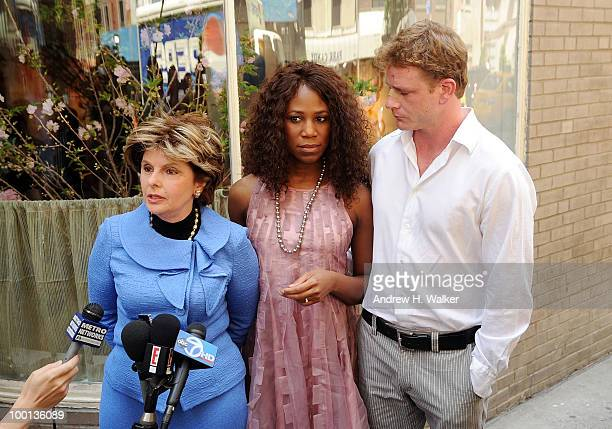 Attorney Gloria Allred Alexis Houston and Matt Lunsford address the press to deny the rumors of a romantic relationship between Houston and Matt...