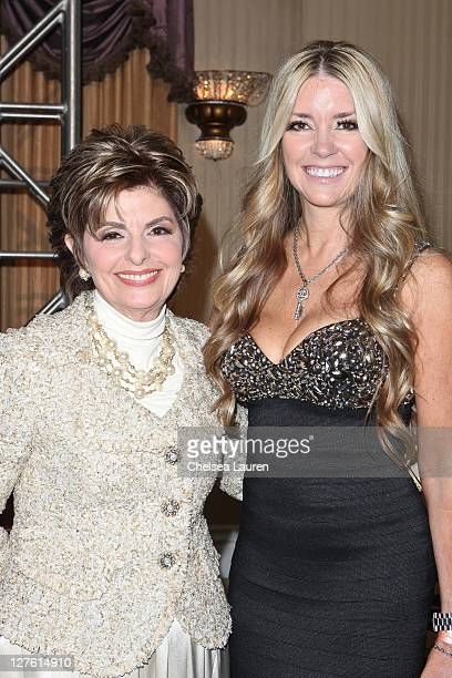 Attorney Gloria Allred and client actress Jodie Fisher arrive at the 21st Annual Night of 100 Stars Awards Gala at Beverly Hills Hotel on February 27...
