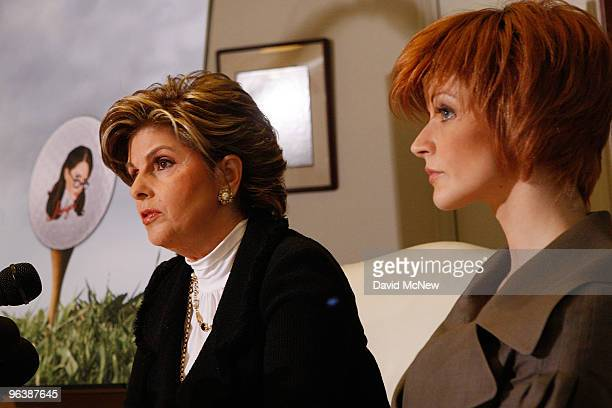 Attorney Gloria Allred and former adult film actress Veronica SiwikDaniels who claims to have had a longterm intimate relationship with golf icon...