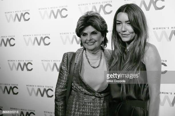 Attorney Gloria Allred and Mimi Haleyi attend the Women's Media Center 2017 Women's Media Awards at Capitale on October 26 2017 in New York City