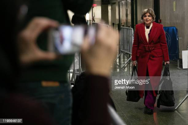 Attorney Gloria Allred arrives at New York City Criminal Court for the continuation of Harvey Weinstein's trial on January 24, 2020 in New York City....