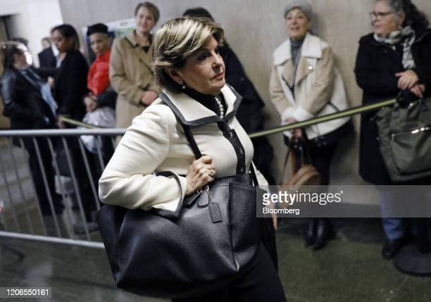 Attorney Gloria Allred arrives at state supreme court in New York US on Wednesday March 11 2020 Harvey Weinsteinwill be sentenced Wednesday for...