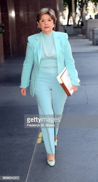 Attorney Gloria Allred arrives for a press conference for a women who alleges she was sexually assaulted at singer Chris Brown home at Los Angeles...