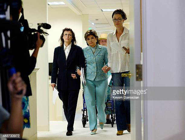 Attorney Gloria Allred arrives with two alleged sexual assault victims and one sexual harassment victim of comedian Bill Cosby Linda Ridgeway...